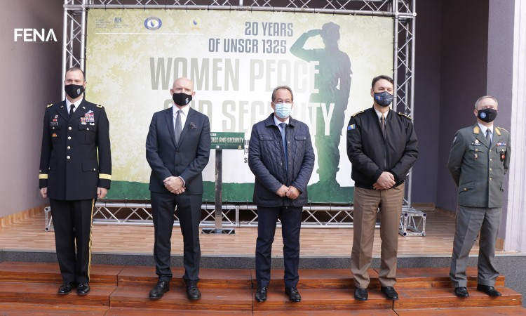 The 20th anniversary of UNSCR 1325 'Women, Peace and Security' marked today
