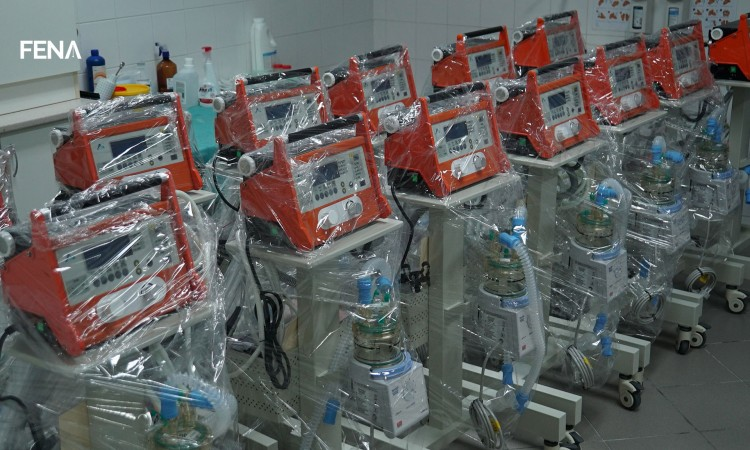 Eighteen new ventilators installed at the Tuzla Clinical Center