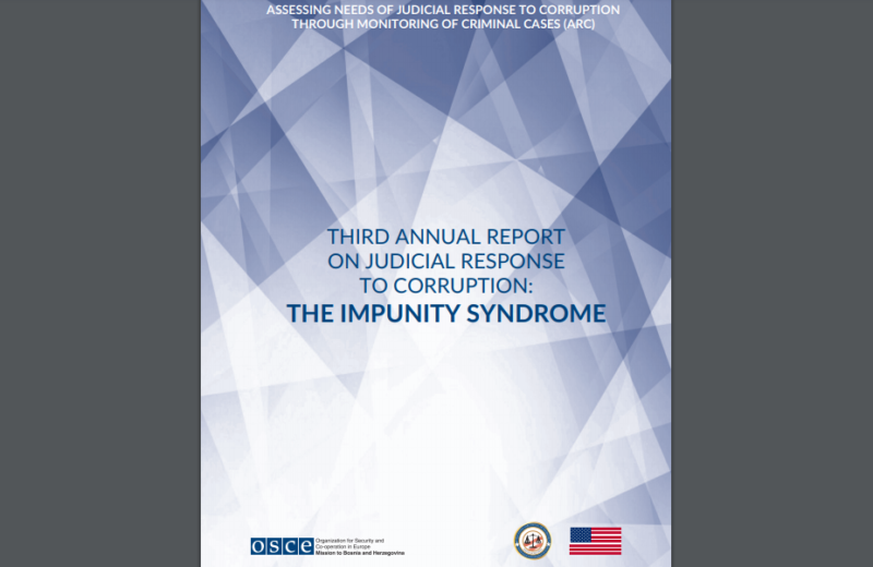 OSCE Mission presents the third report on judicial response to corruption in BiH