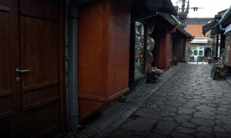 Almost all craft shops in Baščaršija closed