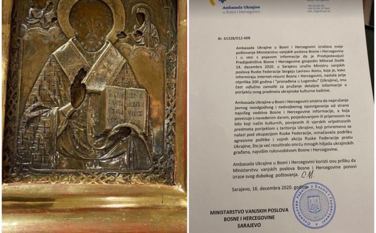 BiH Prosecution opens the case in relation to Ukrainian Orthodox relic