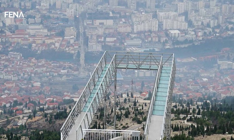 Skywalk at Fortica is a new tourist attraction of Mostar
