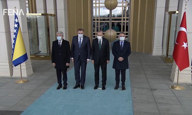 Erdoğan hosts a welcoming ceremony for BiH Presidency members in Ankara