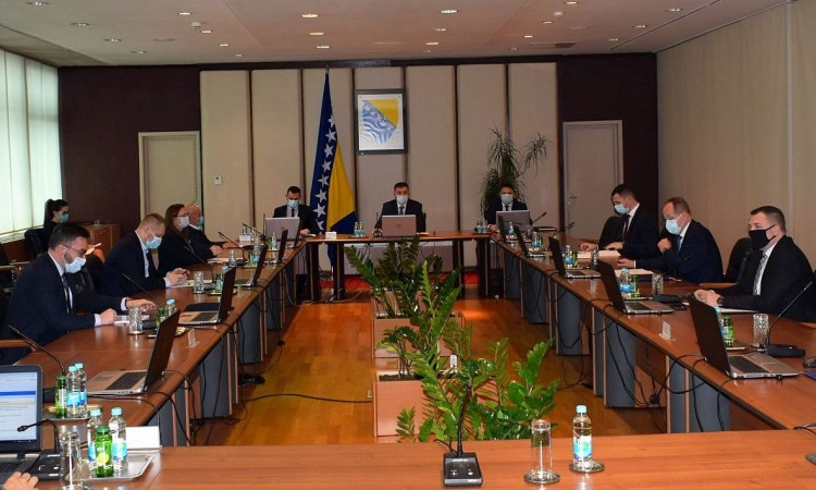 BiH Council of Ministers adopts a decision on interim financing until the end of June 2021