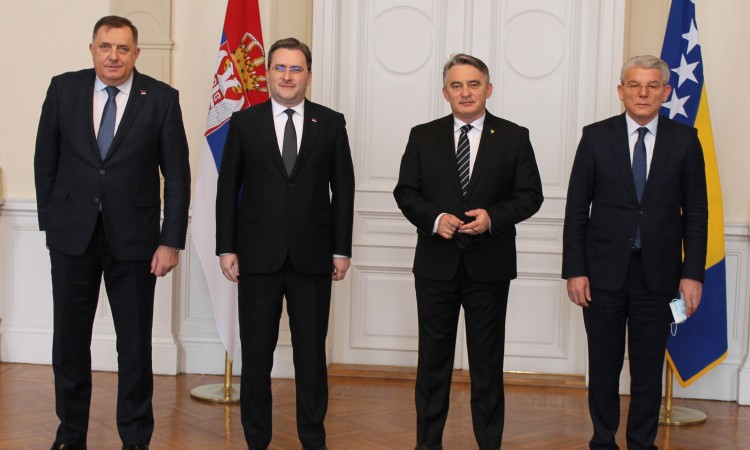 BiH Presidency members receive Serbian Foreign Minister Selaković