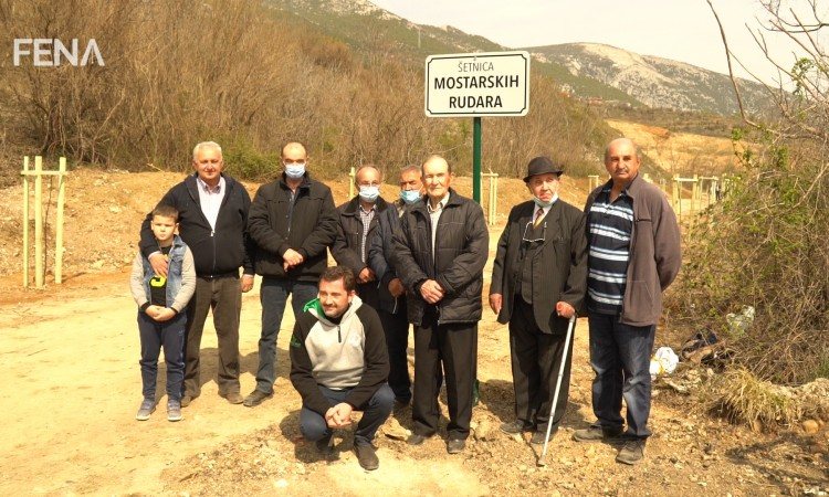 Newly renovated promenade in honor of Mostar miners