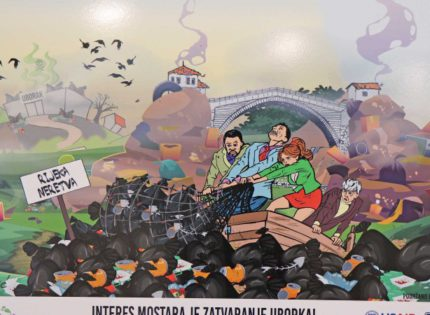 Caricature exhibition on Uborak landfill in Mostar – 'It would be funny if it weren't so sad'