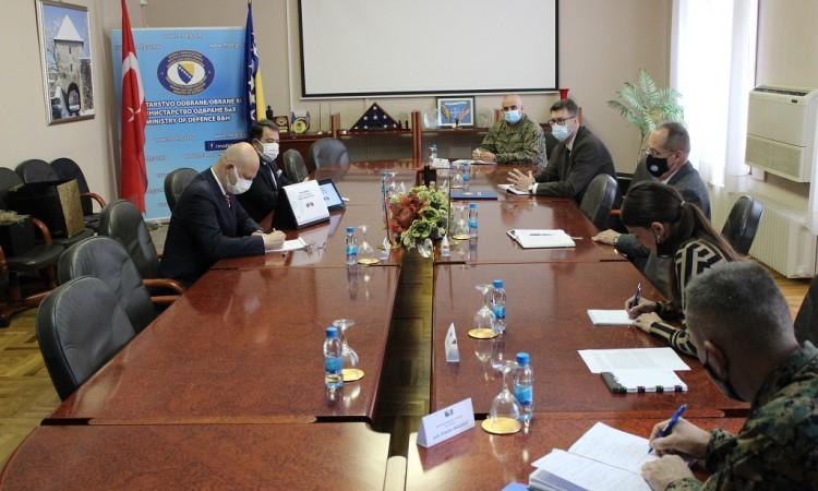 Defense Minister Podžić receives a delegation of Turkish company 'Nurol Makina'