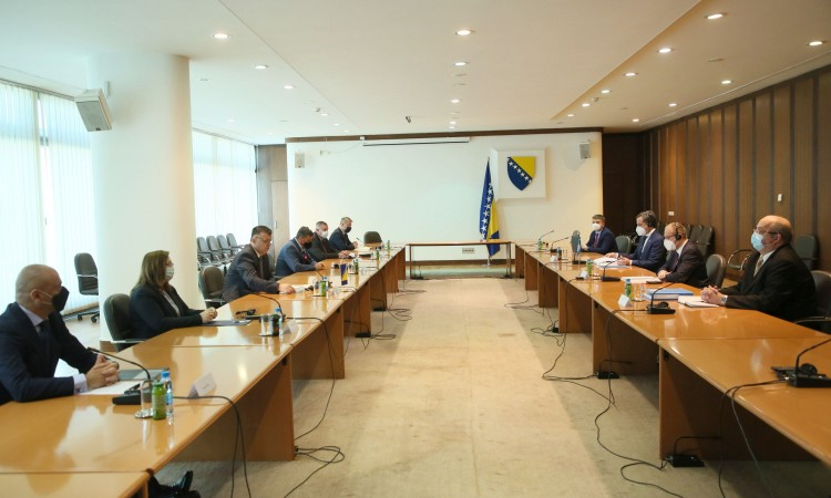 Tegeltija and WHO delegation on the health sector reform