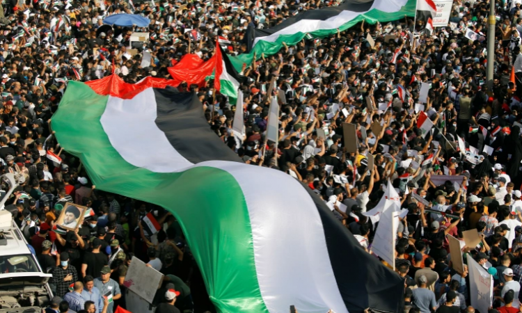 Pro-Palestinian protesters march in major cities as Israel attacks Gaza