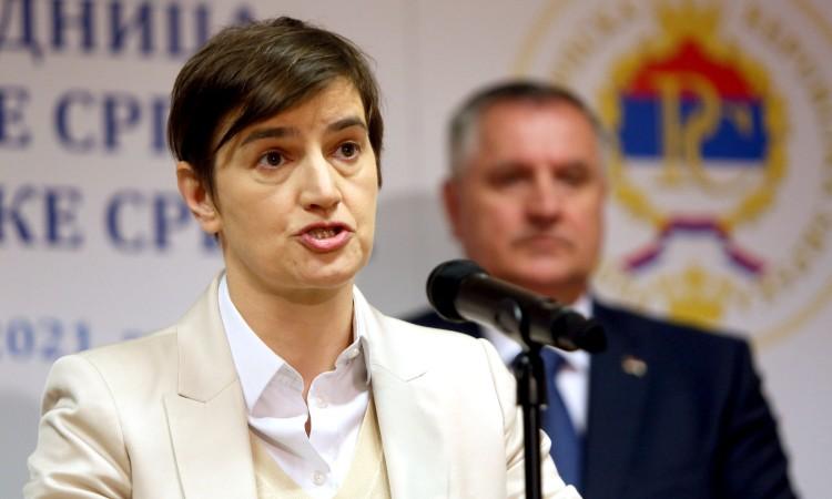 Brnabić: Serbia allocates around 500 million euros for projects in Republika Srpska