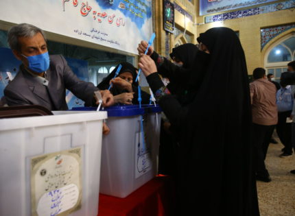 Voting in the presidential election in Iran