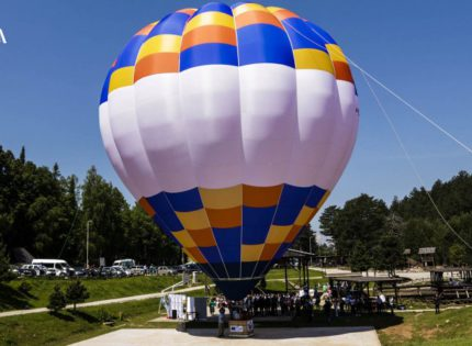 Hot air balloon ride a new tourist attraction on Mount Trebević