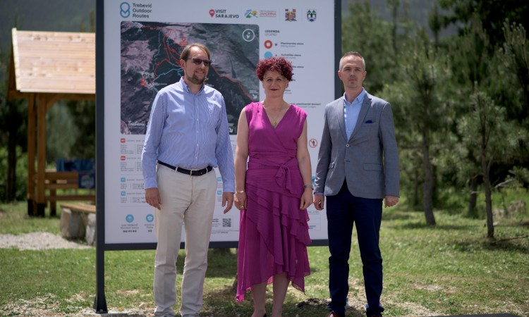 Marking and digital mapping of 44 kilometers of hiking trails on Mount Trebević