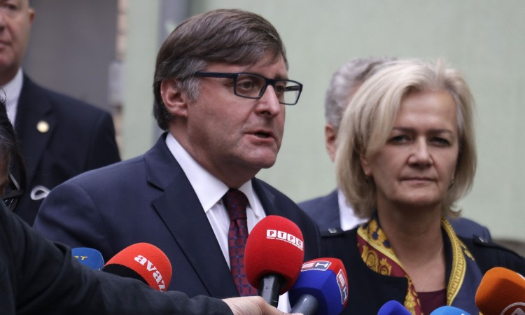 Eichhorst and Palmer on a joint visit to BiH