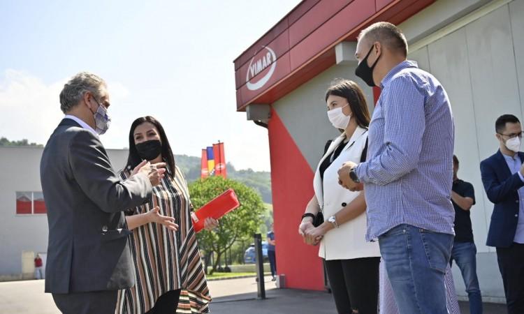 Ambassador Sattler visits Vimar company in Visoko