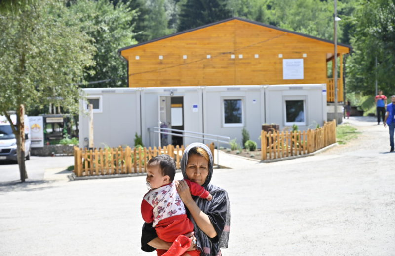 EU supports the establishment of Mother and Baby Wash Facility at Ušivak migrant center