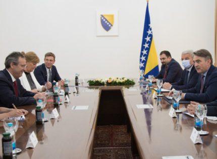 Komšić and Džaferović with Berger: Implement reforms on BiH's path towards EU and NATO