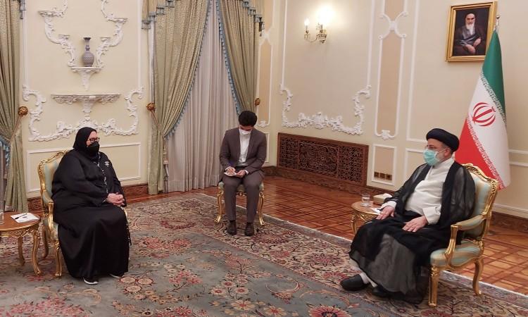 Turković in Tehran with newly elected Iranian President Raisi