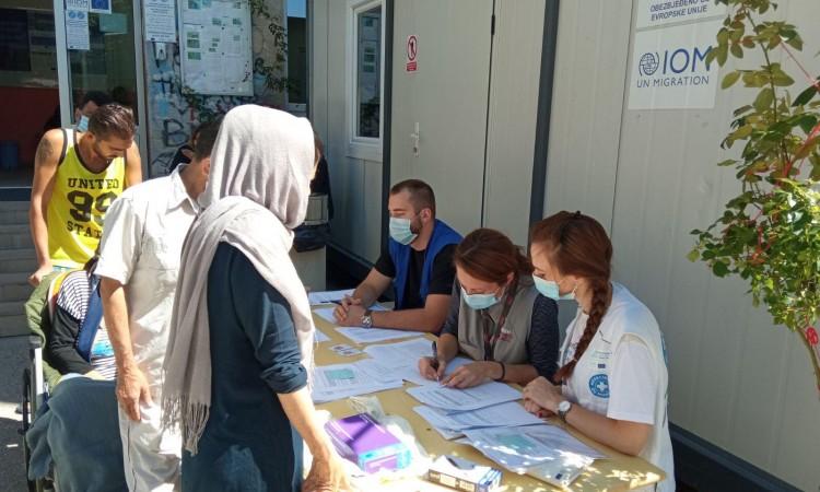 Vaccination of migrants in the reception centers Borići, Miral and Lipa