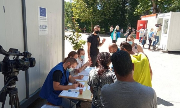 Vaccination process starts at the Lipa reception center