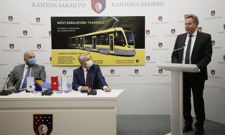 A contract on procurement of 15 new low-floor trams signed today in Sarajevo