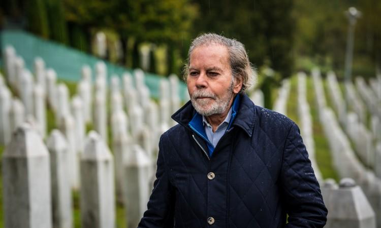 Former UN Security Council President Diego Arria visits Potočari Memorial Center