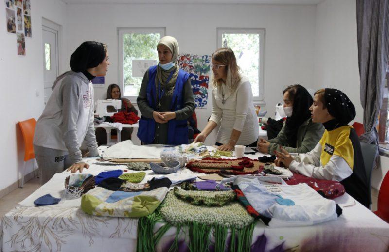 Migrant women are creating a new fashion brand at Ušivak's fashion corner